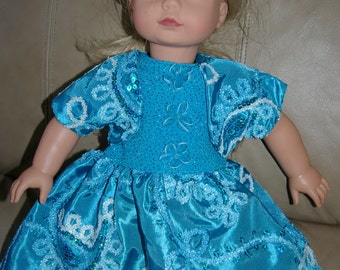 Beautiful blue party dress with shrug