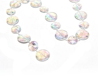 60 Feet Iridescent Bubble Beads Roll Garland for Wedding Centerpiece Decorations and Party Decor