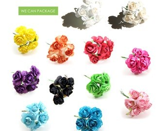 "1"" Paper Flowers 72 Stems Craft DIY Craft Flowers Wedding Ideas Centerpieces"