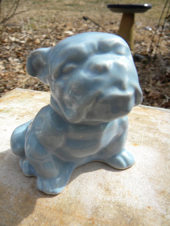 Clean Vintage 1940s Morton Pottery Bulldog Bull Dog Planter