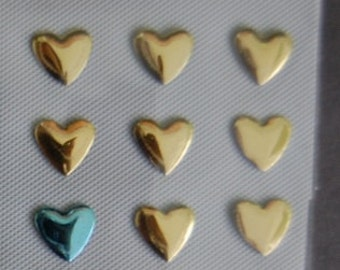 Blue and Gold Hearts