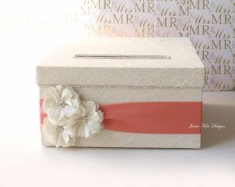 Laced Wedding Card Box Money Box Card Holder- Custom Made to Order