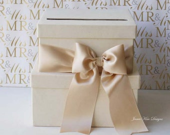 Wedding Card Box Money Box Gift Card Holder - Custom Made to Order