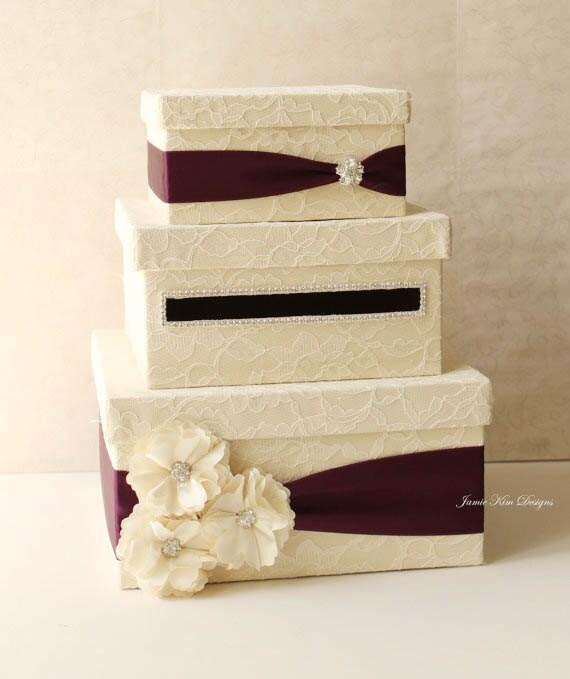 Lace Wedding Card Box Card Holder- (Custom Made to Order)