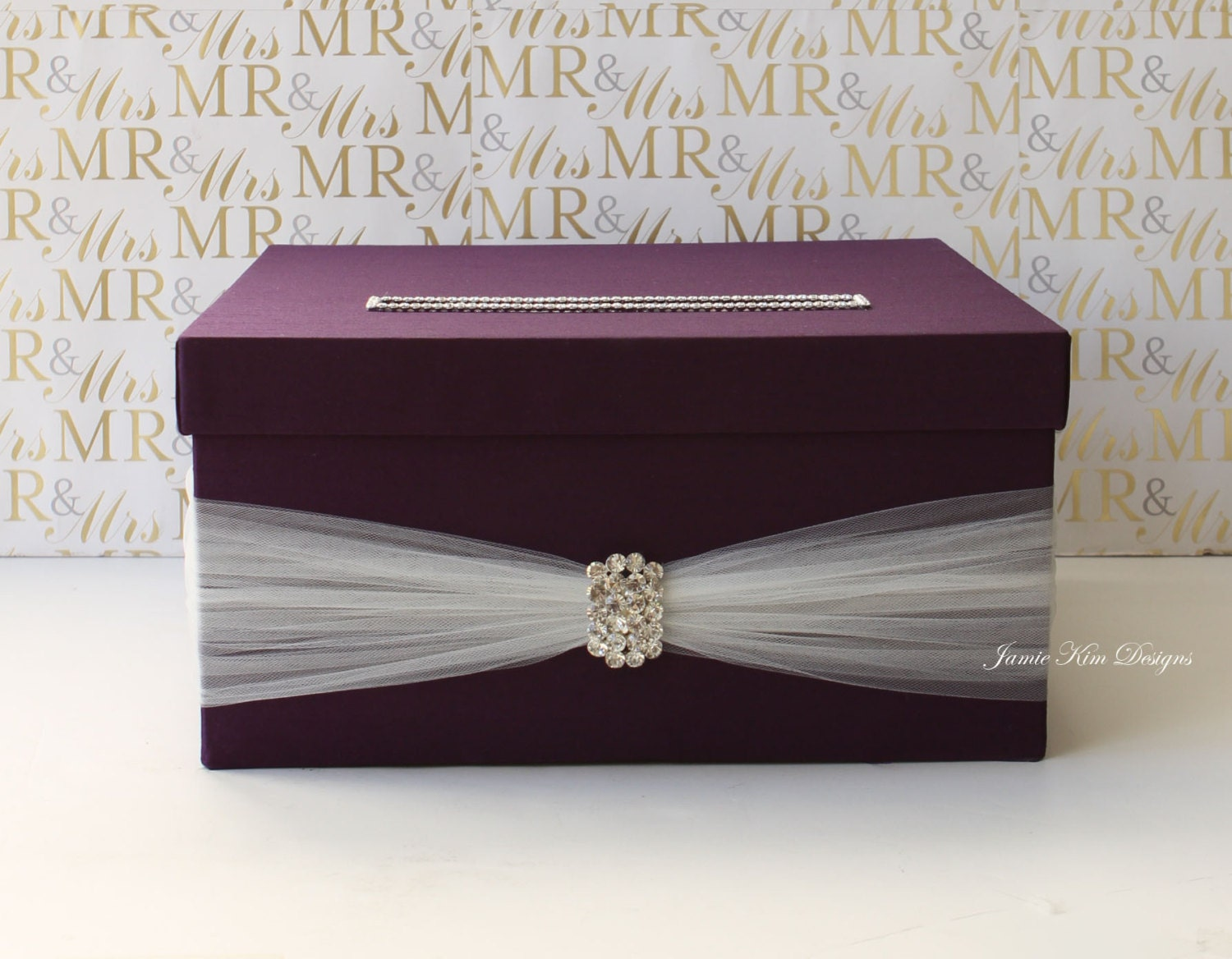 Wedding Gift Envelope Box Suggestions : Wedding card box Wedding Money Box Custom Made by jamiekimdesigns