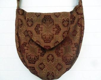 Gothic Bohemian Bag Purse Chenille Medallions