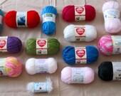 Brand New Knitting Yarns in Alpaca, Naturally Caron, Bamboo Blends, Patons, Bernat, Red Heart, Glitter Eyelash in Crystal