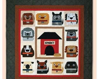 Dog Days Dog Quilt Pattern Machine Applique Quilt Pattern