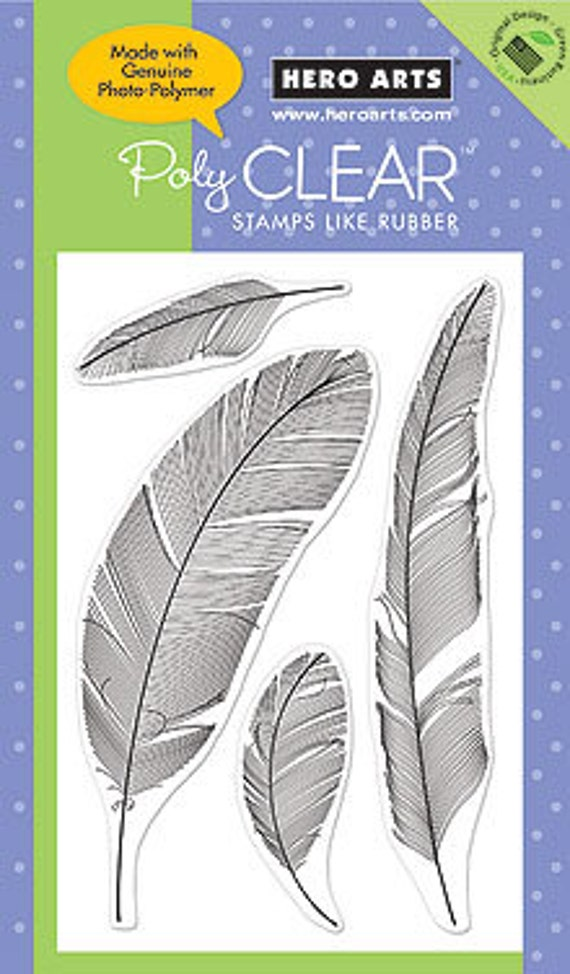 Hero Arts Feathers CL407 Clear Stamps