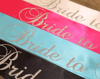 Bridal shower sash Etsy