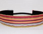 Sweet-Sweat-Bands..... Girly Stripes (non-slip headband).