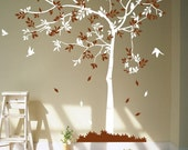 Wall Decals tree decals wall stickers wall decor wall art Tree with birds