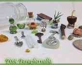 Pixie Paraphernalia  // Fairy House Accessories // Made with Recycled, Found and Organic Materials