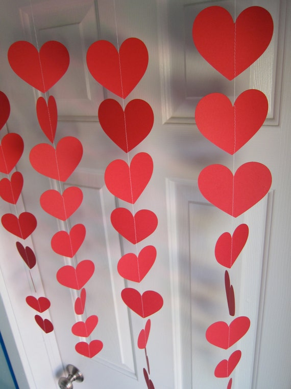 Valentine 39 S Day Decorations Red Hearts Love Party