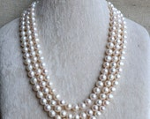long pearl necklace,61 inches 8-9mm freshwater White Pearl necklace,wedding real pearl necklace,bridesmaid necklace, statement necklace