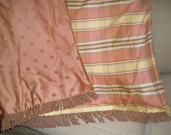 Blush Pint Throw Blanket, Custom Throws, Girl Bedroom Decor, Bespoke Blanket, Blankets and Quilts, Decorator Bedding, Pink Plaid Design