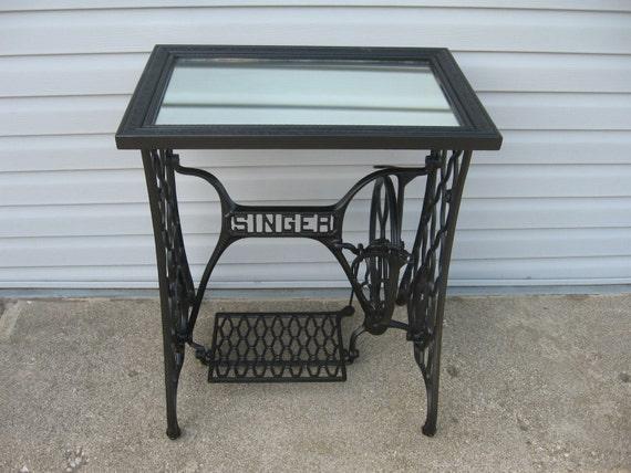 singer sewing machine antique base
