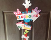 Mickey Mouse Clubhouse Door Sign