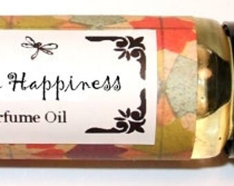 IMAGINE HAPPINESS Roll on Perfume Oil - 2 sizes to choose from - 1/3 oz or 1/6 oz - Fruits and Flower blend