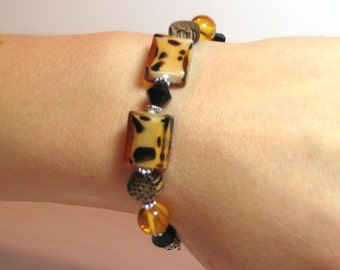 Giraffe - Interchangeable Beaded Watch Band