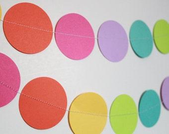 Paper Garland Birthday Party Decoration - Birthday Party, Baby shower, Wedding Decor