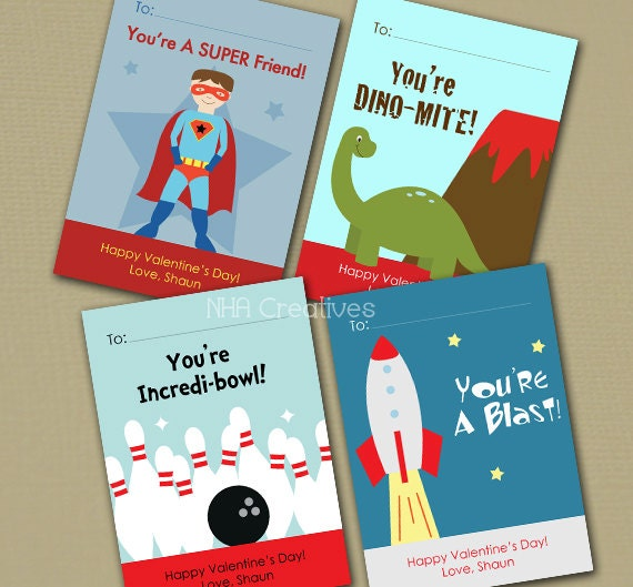 personalized boy valentine's day cards dinosaur, Ideas