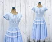 1950s dress / 50s gingham dress / County Fair dress