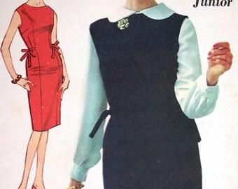 "Advance Dress Pattern No 3061 UNCUT Size 10 Bust 30"" Sew Easy Jumper Sleeveless Princess Seams Back Zipper Blouse Top Shirt Slim Dress"