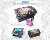 Tutorial.Three beautiful jewelry boxes in one (PDF Format) - flowerdeco