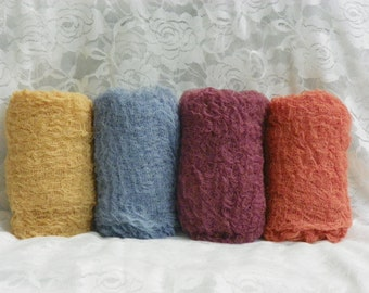 Set of Four Cheesecloth Photography Props...Newborn Props...Baby Wraps...Cheesecloth Wraps