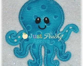 Octopus Boy Machine Embroidery Applique Design