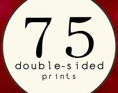 75 PRINTS - DOUBLE SIDED Printed Invitations Cards - 120482190