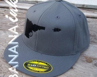 Idaho Gun-Tree Hat- Flat-bill -BANANA ink
