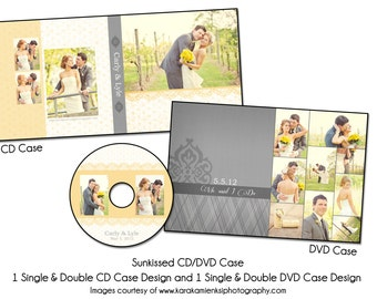 PSD DVD Template - SUNKISSED - Cd and Dvd Case Set
