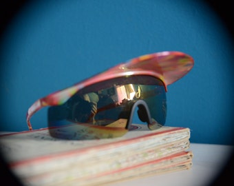 80s Vintage Funky Sunglasses With Visor