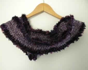 Crochet  Scarf Purple Mist Wrap