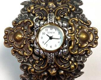 Steampunk Vintage Victorian Watch Cuff