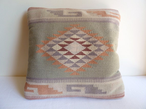 Southwestern Style Pillows : Southwestern Pillow Navajo Style Woven by JosephineMarchons