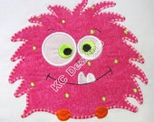 Cute Monsters 04 Machine Applique Embroidery Design - 4x4, 5x7 & 6x8