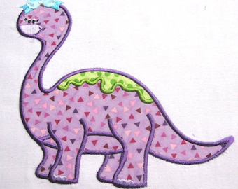 Girly Dinosaurs 01 Machine Applique Embroidery Design - 4x4, 5x7 & 6x8