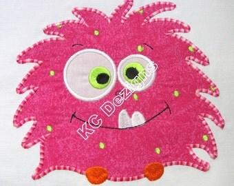 Cute Monsters 04 Machine Applique Embroidery Design - 4x4, 5x7 & 6x8