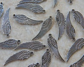 Tibetan Silver Angel Wing Pendants, 10 PC (INDOC14)
