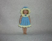 "Dress Set For 7""Riley Kish Doll Crochet"