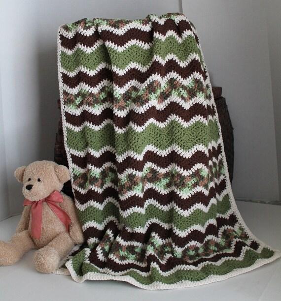 Baby Ripple Afghan Crib Blanket Baby Camo