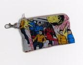 Star trek fabric zipper pouch 5 inch wallet with clip