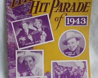 Vintage Sheet Music Book Hillbilly Hit Parade of 1943 Country Western US Shipping Included