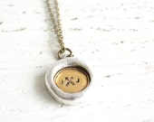 Arrow and initial necklace- personalized bohemian long chain with custom pendant - made by hand in the USA by White Truffle