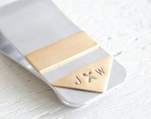 Arrow Money clip -  Boho silver and brass personalized money clip - gift for him -  handcrafted in the USA - Great groomsmen gifts for him