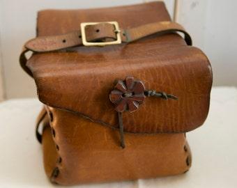 Vintage Handmade Large Leather Case
