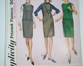 Simplicity Vintage 1965 Sub-Teen How-To-Sew Sewing Pattern Dress 6098